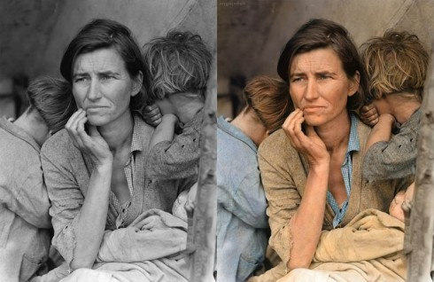 migrant-mother-dorothea-lange-colorized